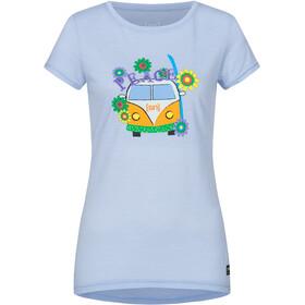 super.natural Printed Camiseta Mujer, azul